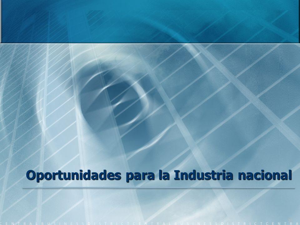 Oportunidades para la Industria nacional 30