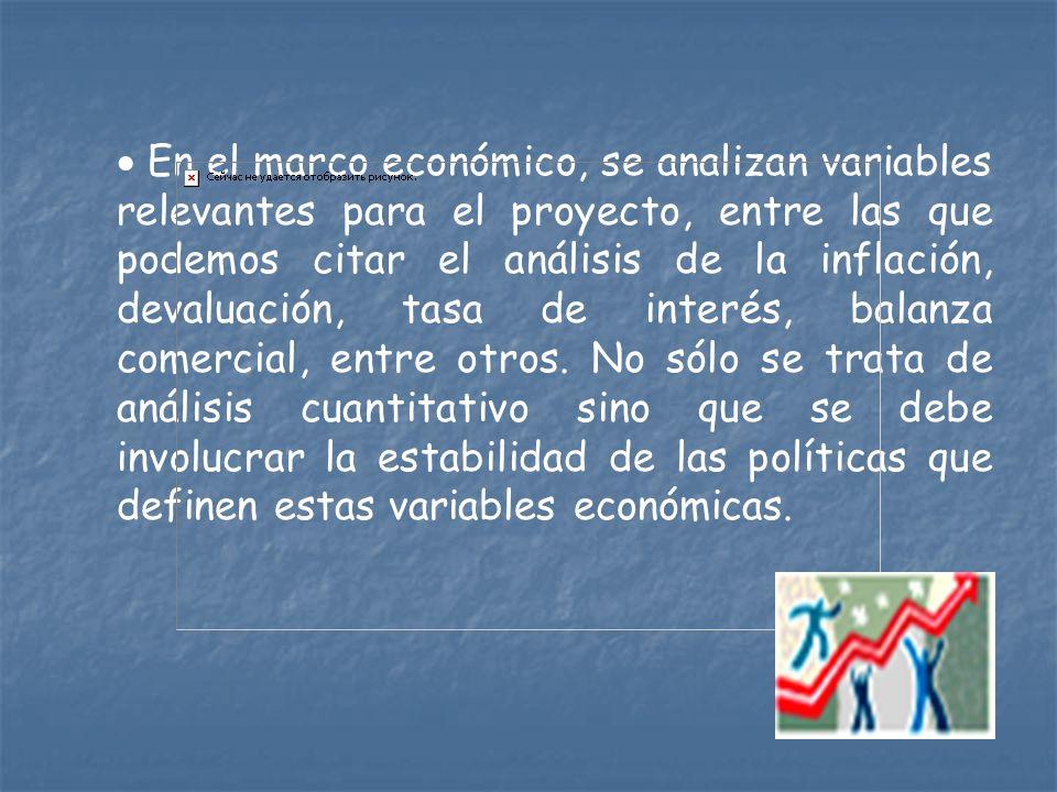 1.2.2 Análisis del Entorno del Mercado Marco económico.