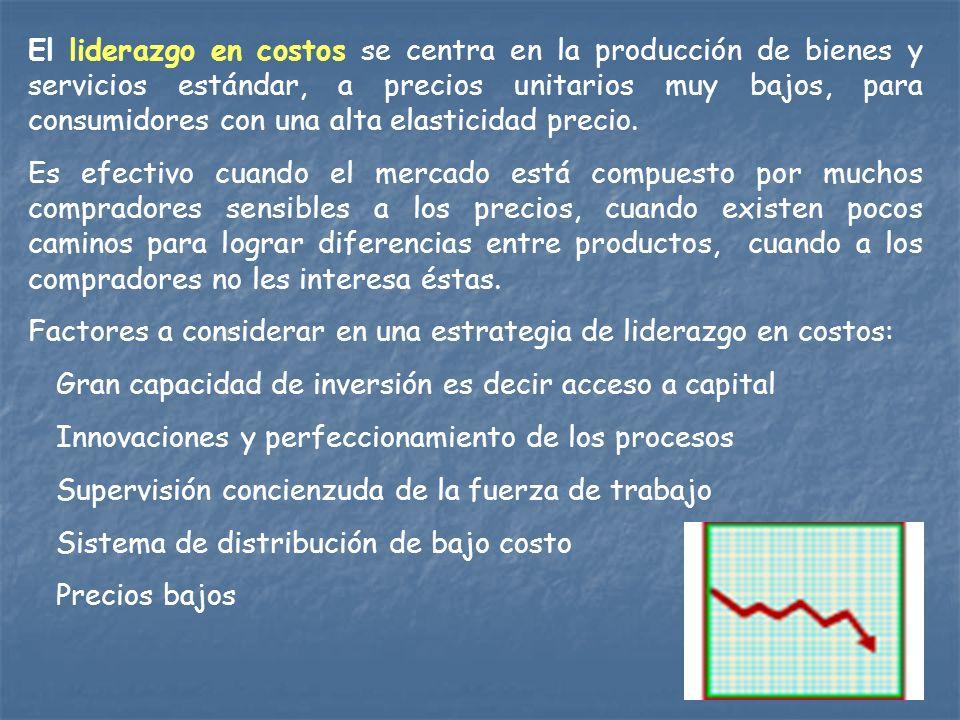 Las Estrategias.Las estrategias son un medio para alcanzar los objetivos de la empresa.