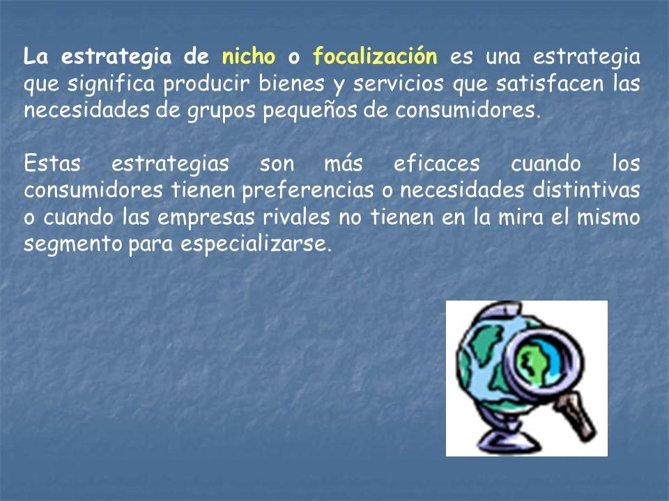 La diferenciación es una estrategia que busca la producción de bienes y servicios únicos y dirigidos a consumidores con inelasticidad precio.