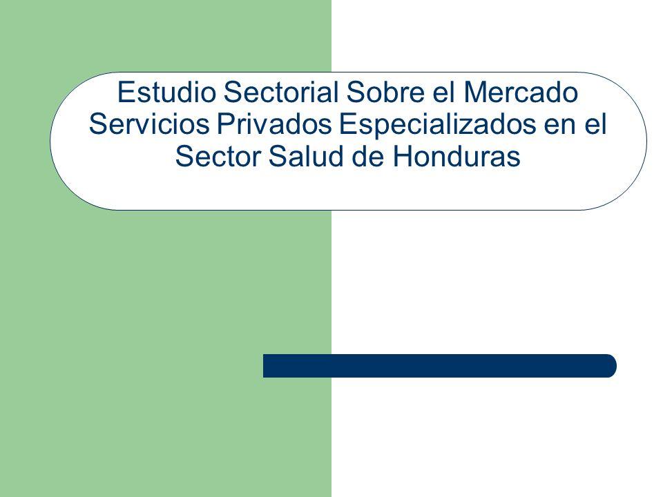 Objetivo General Analizar el mercado de servicios privados especializados en el sector salud de Honduras y su relación con el Estado, evaluando las condiciones de competencia e identificando prácticas y conductas anticompetitivas en ese sector.