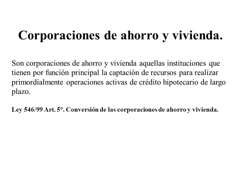 Corporaciones de ahorro y vivienda.