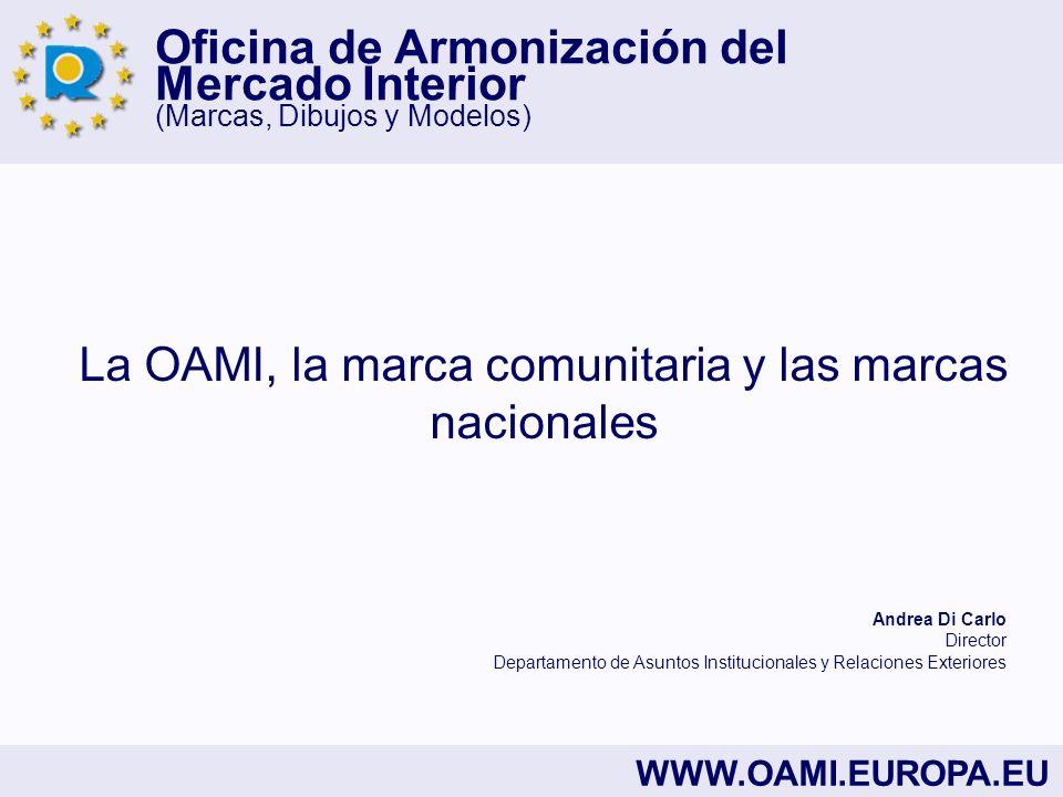 Oficina de Armonización del Mercado Interior (Marcas, Dibujos y Modelos) WWW.OAMI.EUROPA.EU La OAMI, la marca comunitaria y las marcas nacionales Andr