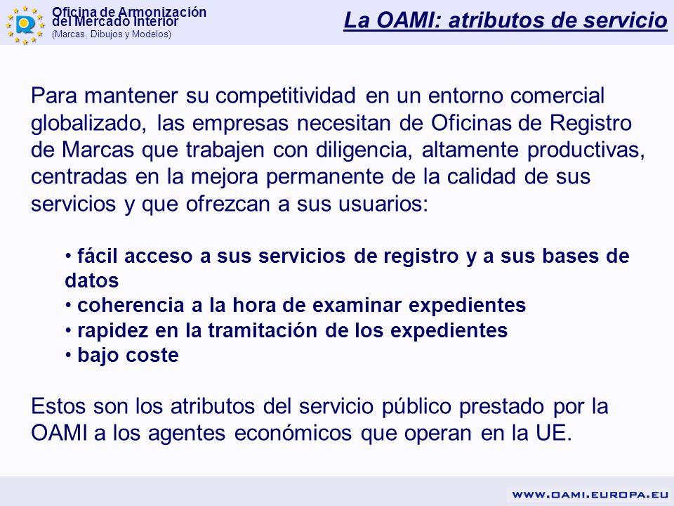 Oficina de Armonización del Mercado Interior (Marcas, Dibujos y Modelos) Para mantener su competitividad en un entorno comercial globalizado, las empr