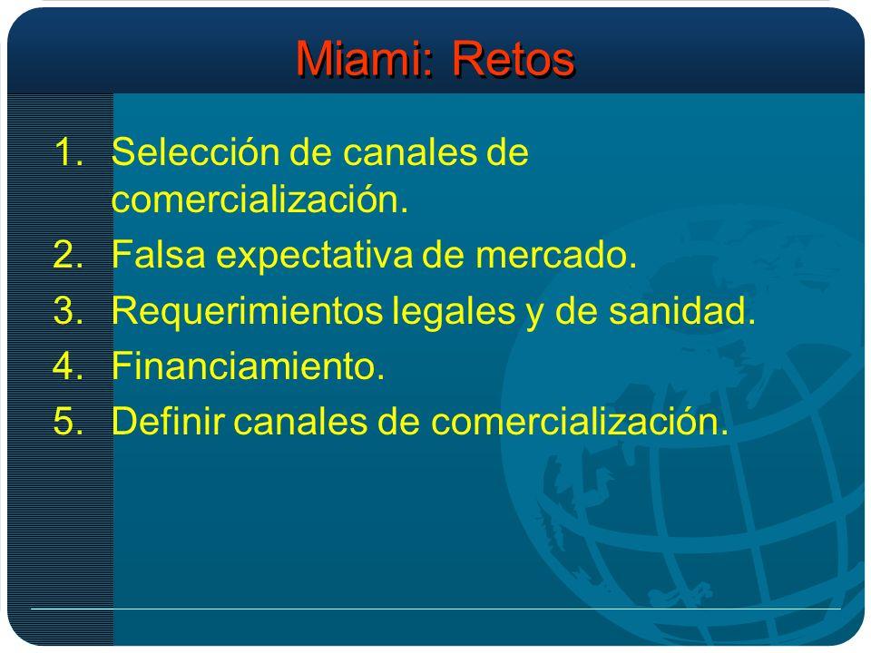 Miami: Retos 1.Selección de canales de comercialización.