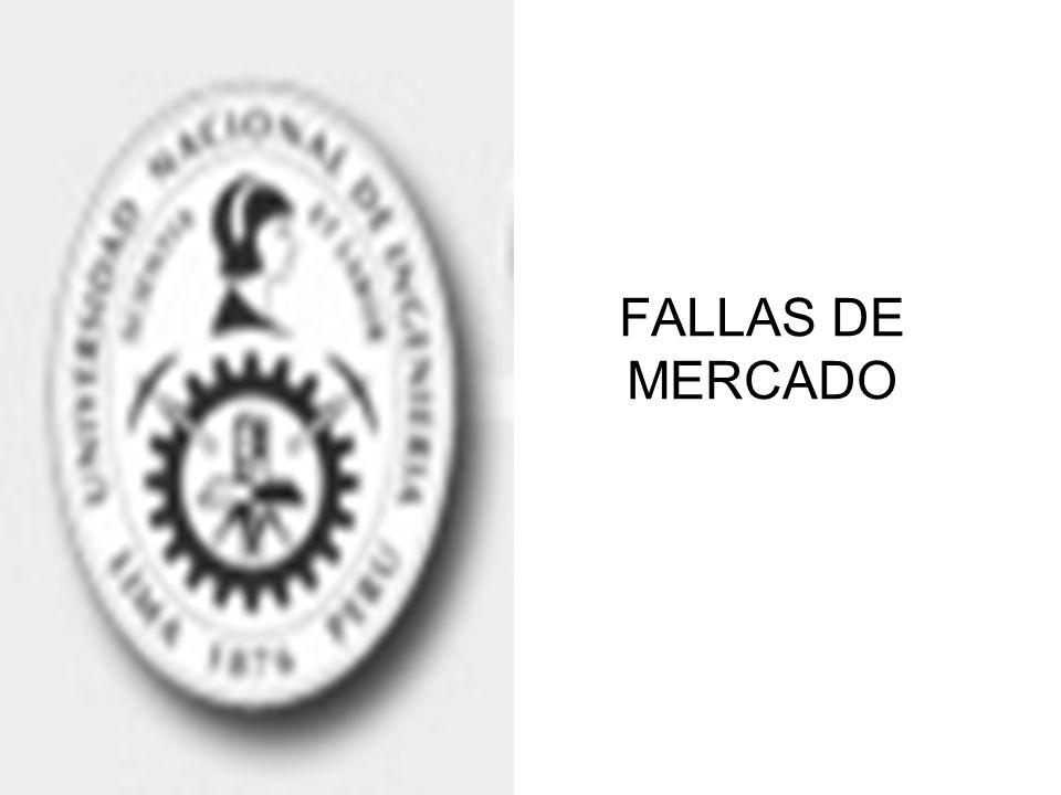 FALLAS DE MERCADO