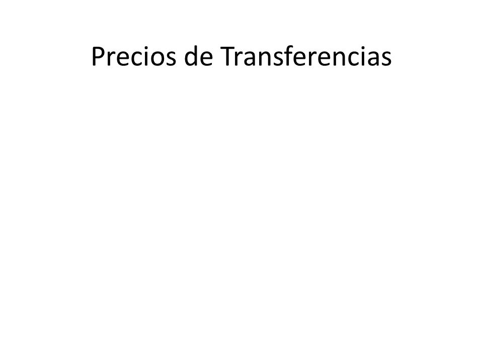 Precio Comparable No Controlado (PCNC) Servicios poco complejos USO Cesión definitiva o cesión en uso de intangibles valiosos.