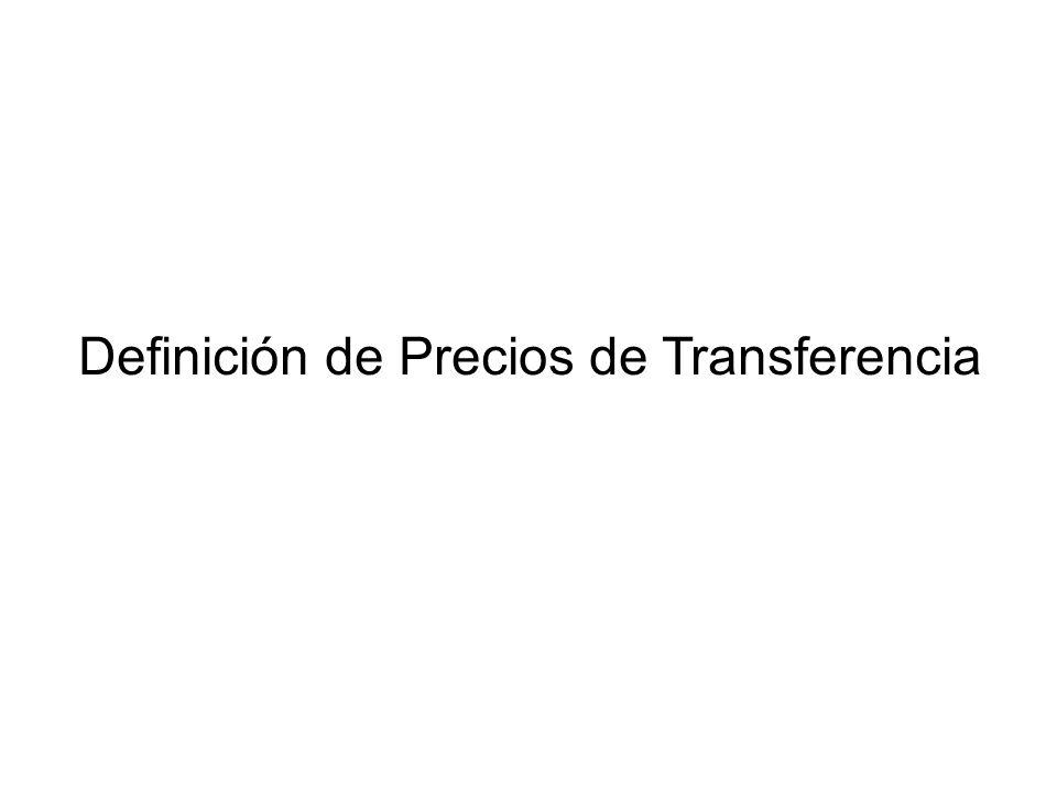 Definición de Precios de Transferencia