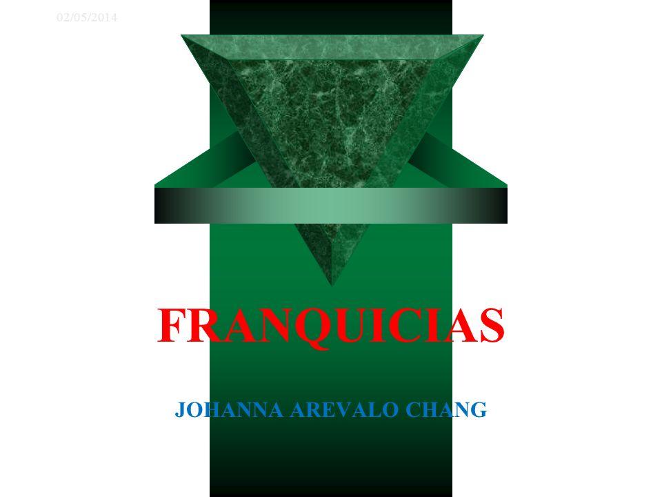 02/05/2014 FRANQUICIAS JOHANNA AREVALO CHANG
