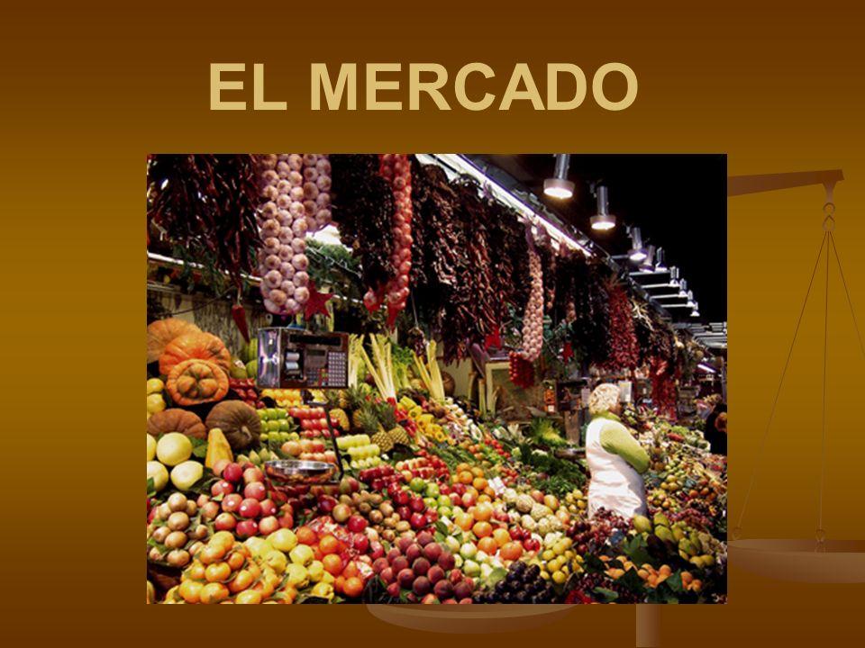 MERCADO Es un sitio público destinado permanentemente, o en días señalados, para vender, comprar o permutar bienes o servicios.