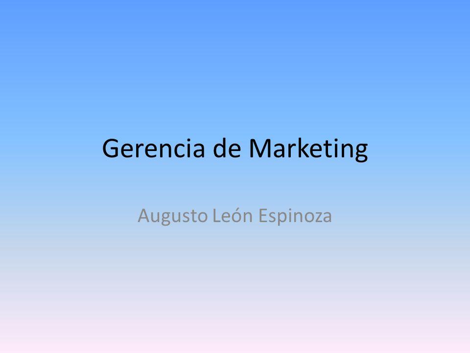 Gerencia de Marketing Augusto León Espinoza