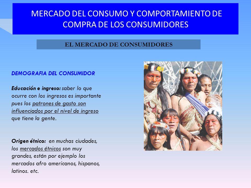 MERCADO DEL CONSUMO Y COMPORTAMIENTO DE COMPRA DE LOS CONSUMIDORES DEMOGRAFIA DEL CONSUMIDOR Educación e ingreso: saber lo que ocurre con los ingresos