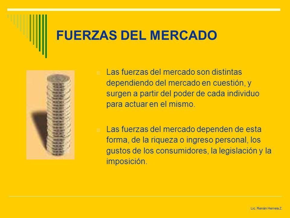 Lic. Renán Herrera Z. FUERZAS DEL MERCADO El programa de unión económica y monetaria de la Unión Europea tiene como objetivo lograr un mercado libre e