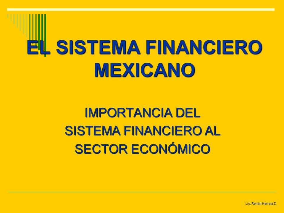 MERCADO FINANCIERO BOLSA DE VALORES MERCADO DE DINERO TASAS DE INTERÉS Lic. Renán Herrera Z.