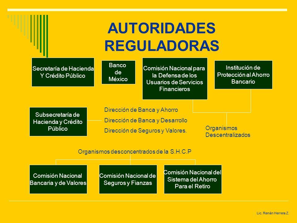 Lic. Renán Herrera Z. ESTRUCTURA DEL SISTEMA FINANCIERO EN MÉXICO Comisión Nacional de Seguros y Fianzas Secretaría de Hacienda y Crédito Público Banc