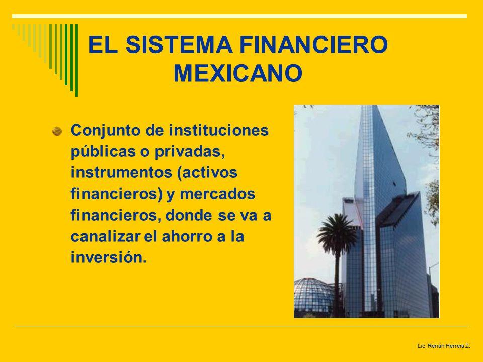 Lic. Renán Herrera Z. SISTEMA FINANCIERO MEXICANO