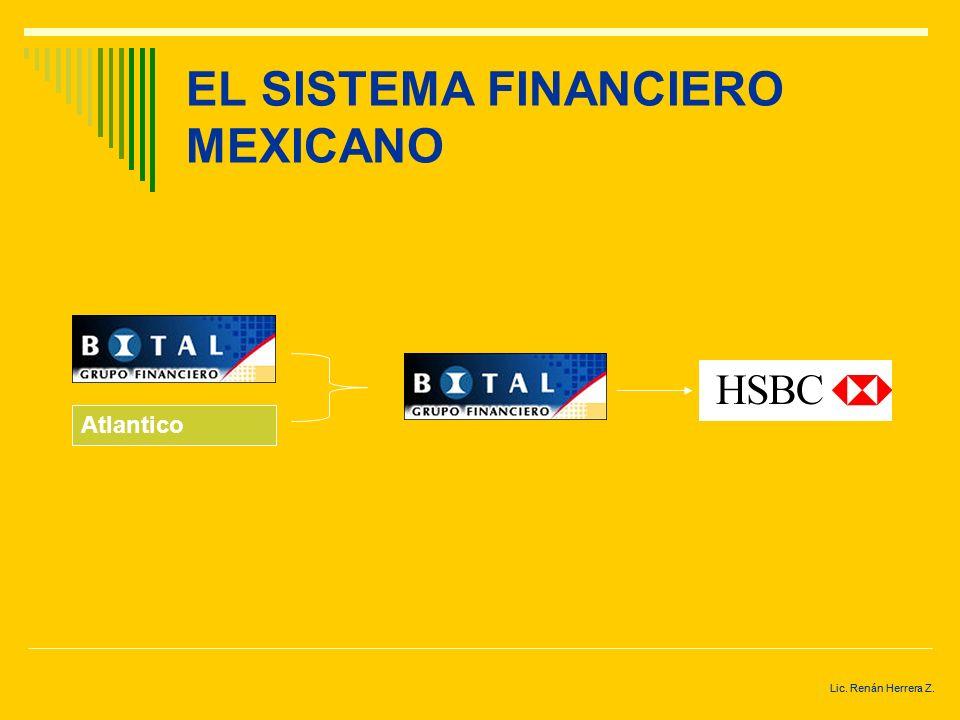 Lic. Renán Herrera Z. EL SISTEMA FINANCIERO MEXICANO Bancomer Promex Unión Probursa Oriente Cremí Obrero Bancomer