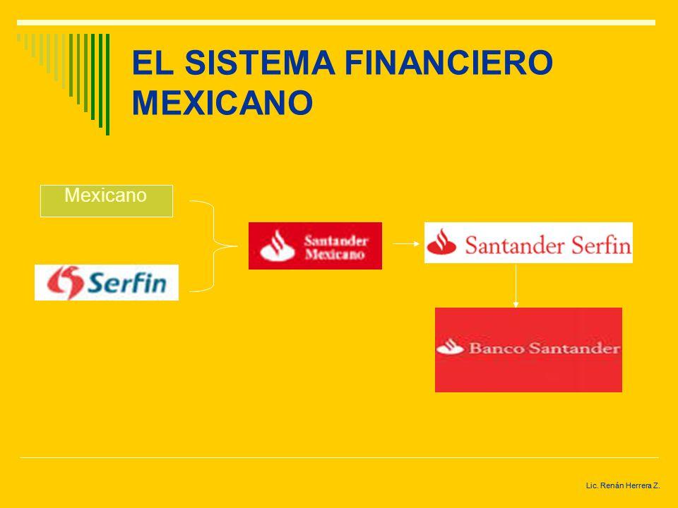 Lic. Renán Herrera Z. EL SISTEMA FINANCIERO MEXICANO