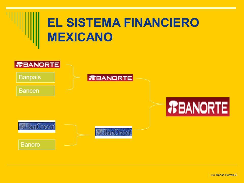 Lic. Renán Herrera Z. EL SISTEMA FINANCIERO MEXICANO Mexicano