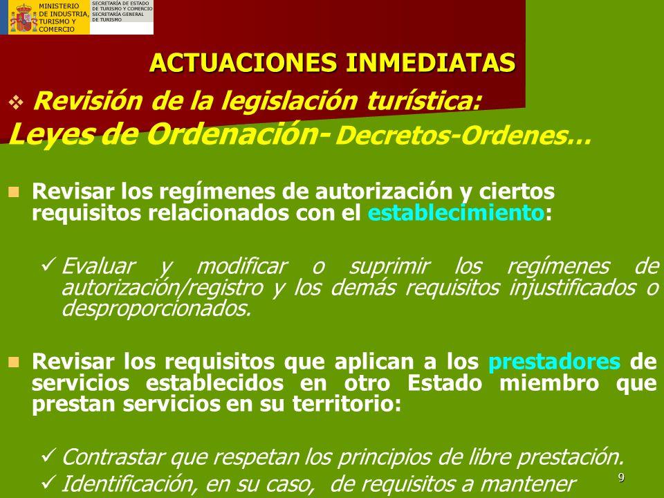 10 AGENCIAS DE VIAJE- ESTABLECIMIENTO ¿Existen razones de interés general (protección consumidores) para supeditar a autorización?.