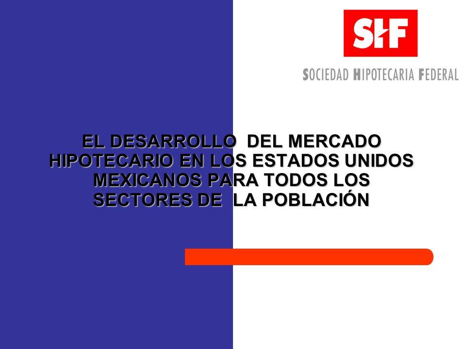EL DESARROLLO DEL MERCADO HIPOTECARIO EN LOS ESTADOS UNIDOS MEXICANOS PARA TODOS LOS SECTORES DE LA POBLACIÓN
