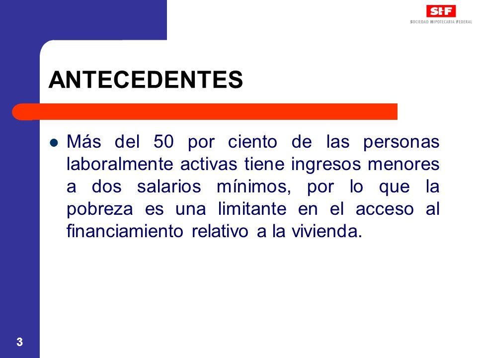 24 ACTORES Sociedad Hipotecaria Federal, S.N.C.: a) Sociedad nacional de crédito, institución de banca de desarrollo que sustituyó al Banco de México, desde febrero de 2002, como fiduciaria en el Fovi.