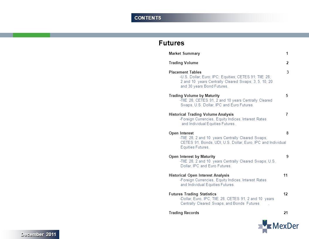 18 ESTADÍSTICAS OPERATIVAS DE FUTUROS / FUTURES TRADING STATISTICS Futuros Bono M3 y M5 / 3 & 5 YEAR BOND FUTURES
