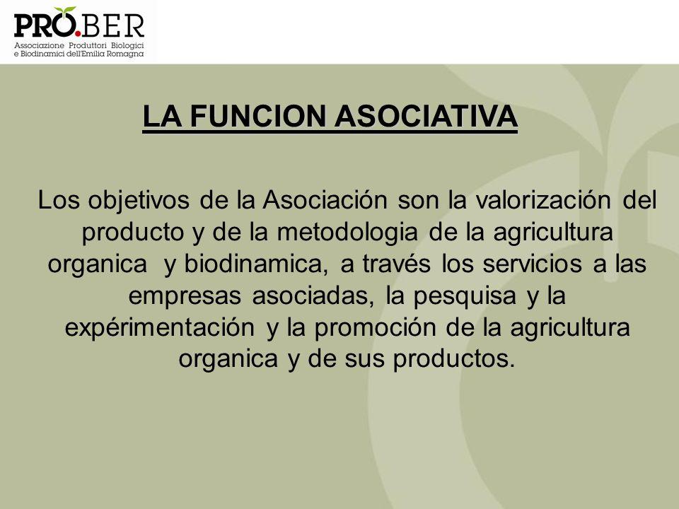 Los objetivos de la Asociación son la valorización del producto y de la metodologia de la agricultura organica y biodinamica, a través los servicios a