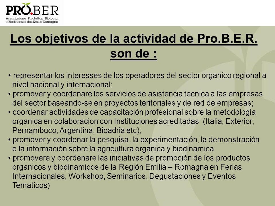 representar los interesses de los operadores del sector organico regional a nivel nacional y internacional; promover y coordenare los servicios de asi