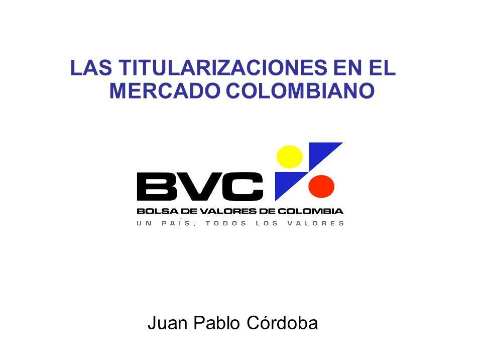 LAS TITULARIZACIONES EN EL MERCADO COLOMBIANO Juan Pablo Córdoba