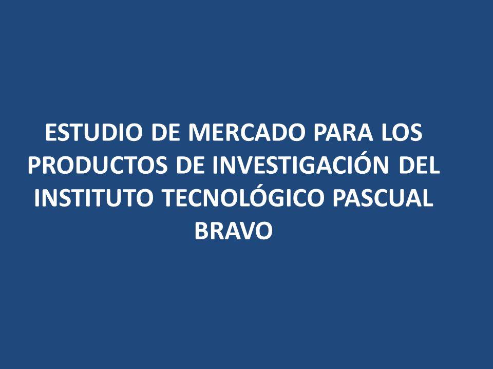ESTUDIO DE MERCADO PARA LOS PRODUCTOS DE INVESTIGACIÓN DEL INSTITUTO TECNOLÓGICO PASCUAL BRAVO