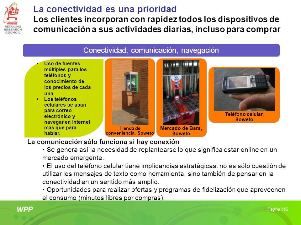 La conectividad es una prioridad Los clientes incorporan con rapidez todos los dispositivos de comunicación a sus actividades diarias, incluso para co
