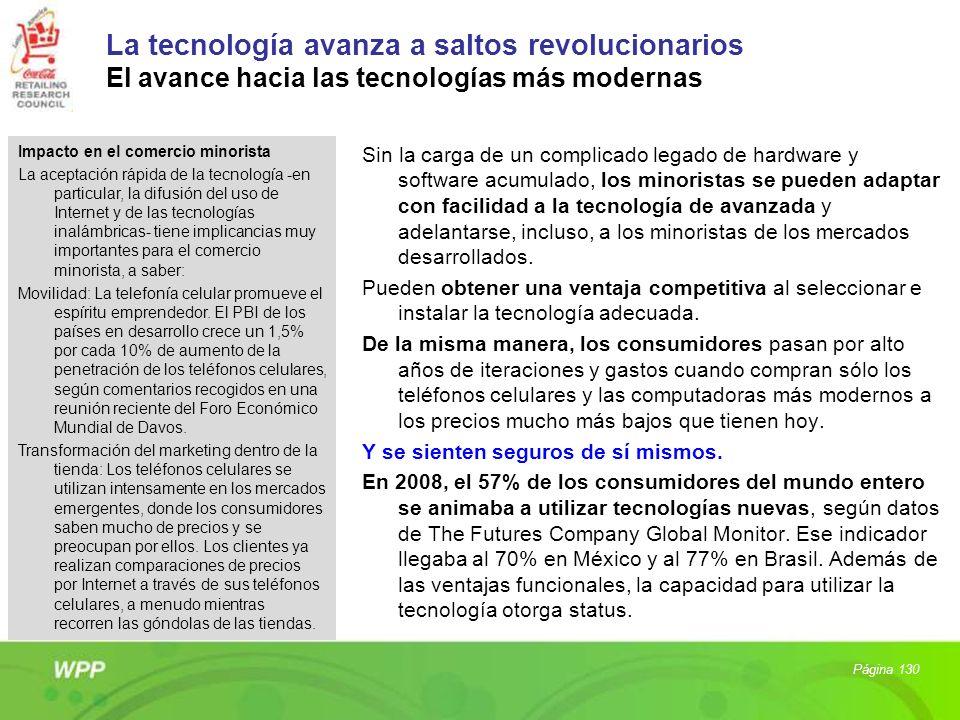 La tecnología avanza a saltos revolucionarios El avance hacia las tecnologías más modernas Sin la carga de un complicado legado de hardware y software