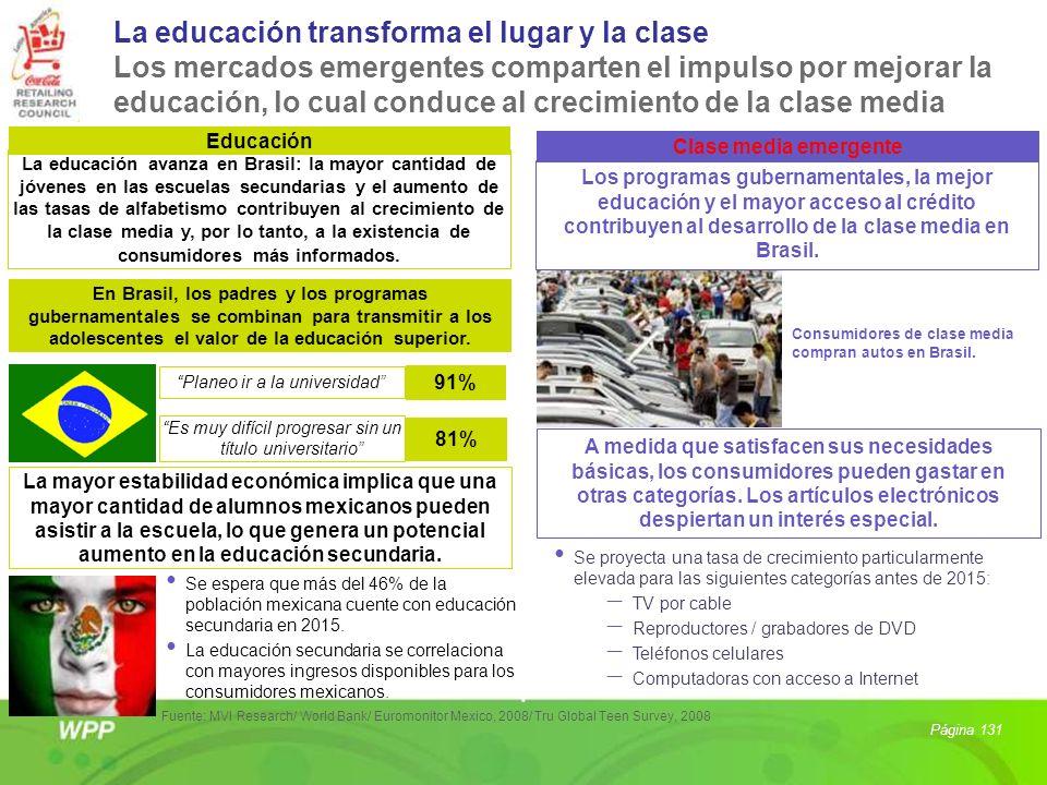 Educación Clase media emergente La educación avanza en Brasil: la mayor cantidad de jóvenes en las escuelas secundarias y el aumento de las tasas de a