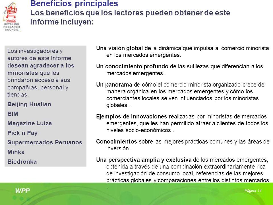 Beneficios principales Los beneficios que los lectores pueden obtener de este Informe incluyen: Una visión global de la dinámica que impulsa al comerc