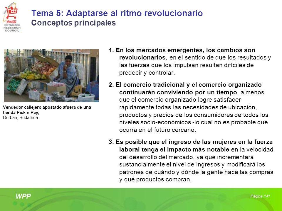 Tema 5: Adaptarse al ritmo revolucionario Conceptos principales 1. En los mercados emergentes, los cambios son revolucionarios, en el sentido de que l