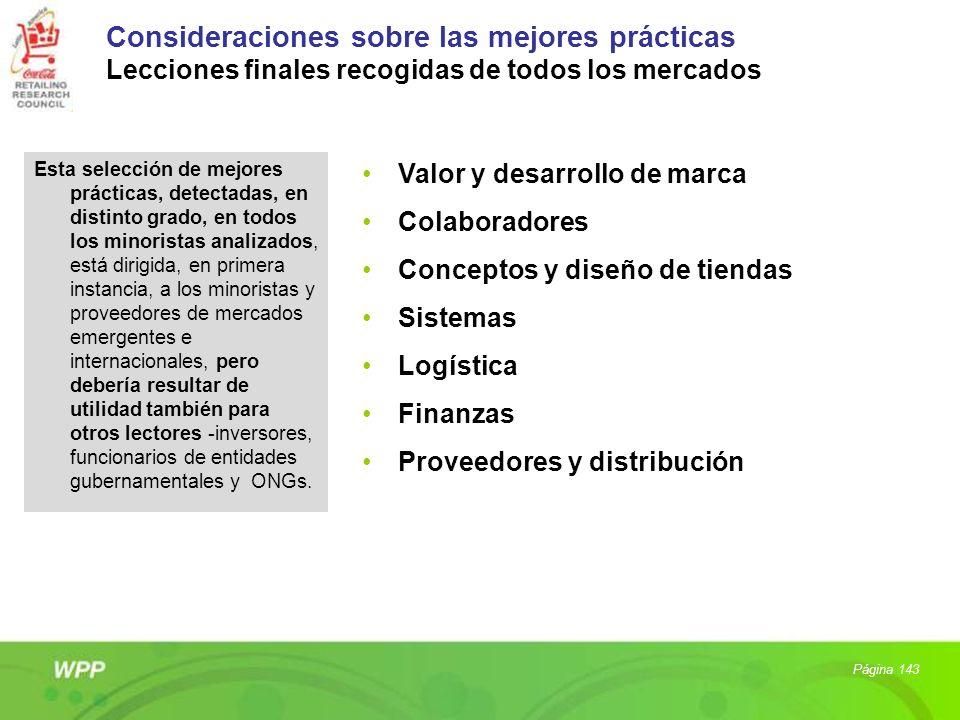 Consideraciones sobre las mejores prácticas Lecciones finales recogidas de todos los mercados Esta selección de mejores prácticas, detectadas, en dist