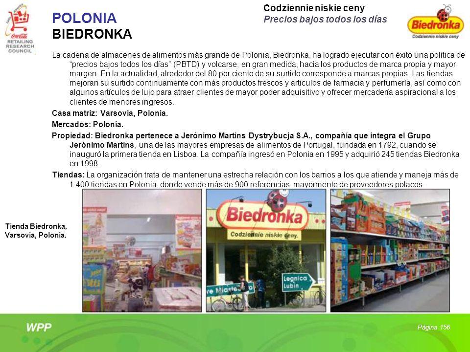 POLONIA BIEDRONKA La cadena de almacenes de alimentos más grande de Polonia, Biedronka, ha logrado ejecutar con éxito una política de precios bajos to