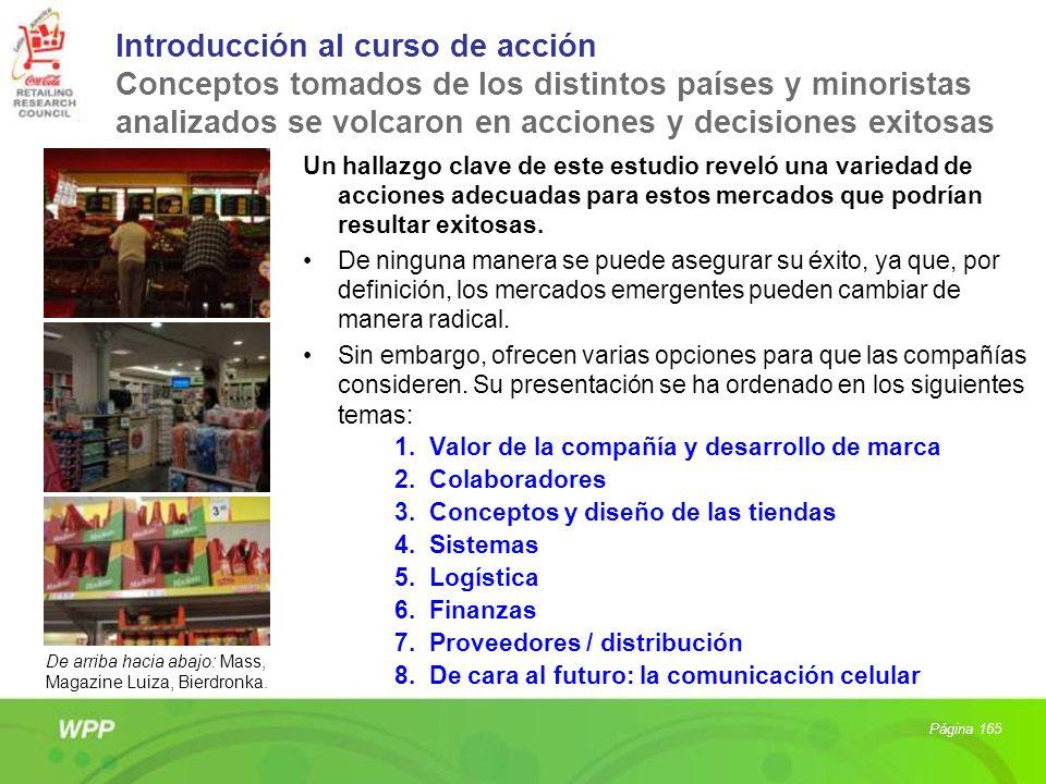 Introducción al curso de acción Conceptos tomados de los distintos países y minoristas analizados se volcaron en acciones y decisiones exitosas Un hal