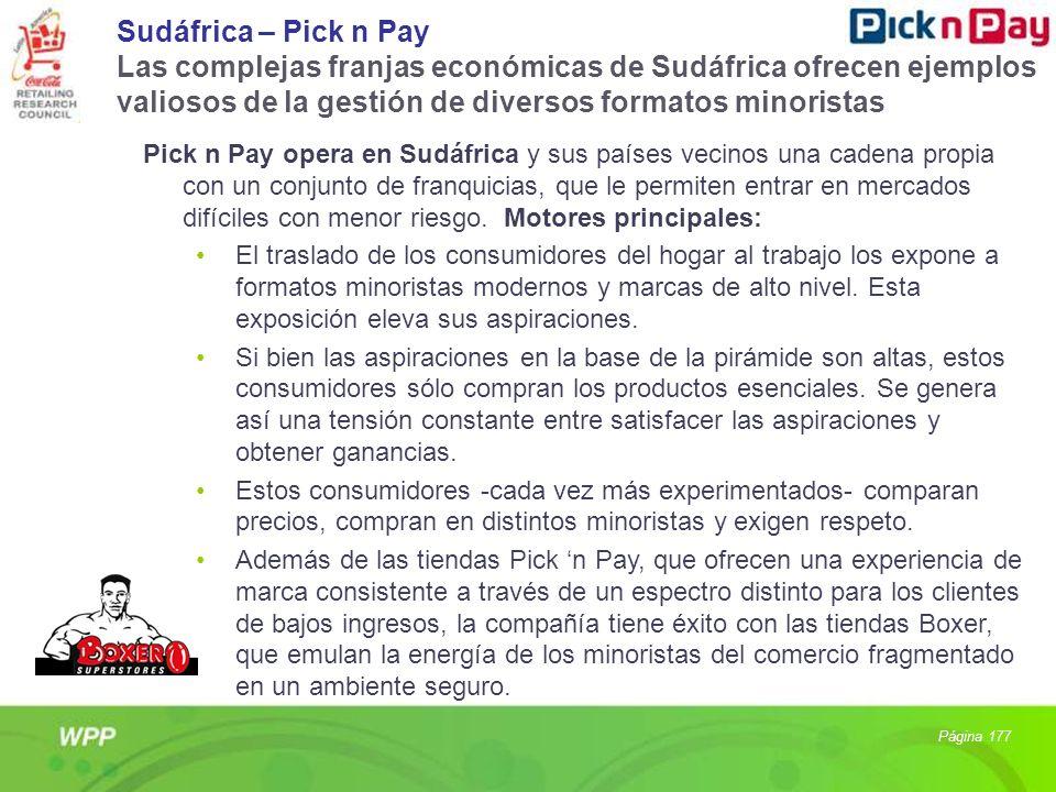 Sudáfrica – Pick n Pay Las complejas franjas económicas de Sudáfrica ofrecen ejemplos valiosos de la gestión de diversos formatos minoristas Pick n Pa
