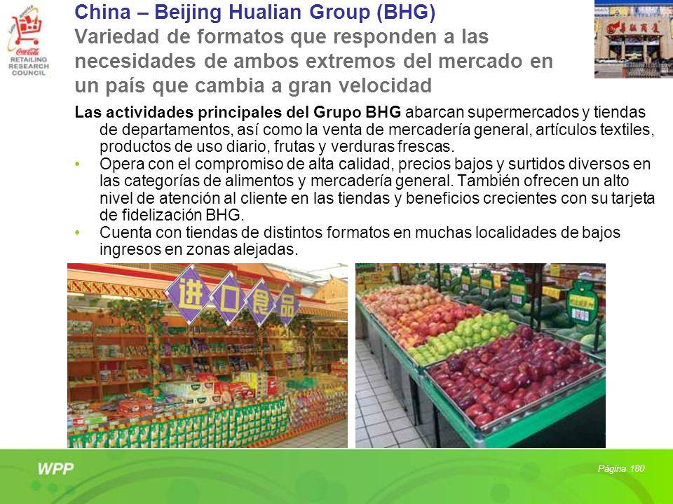 China – Beijing Hualian Group (BHG) Variedad de formatos que responden a las necesidades de ambos extremos del mercado en un país que cambia a gran ve
