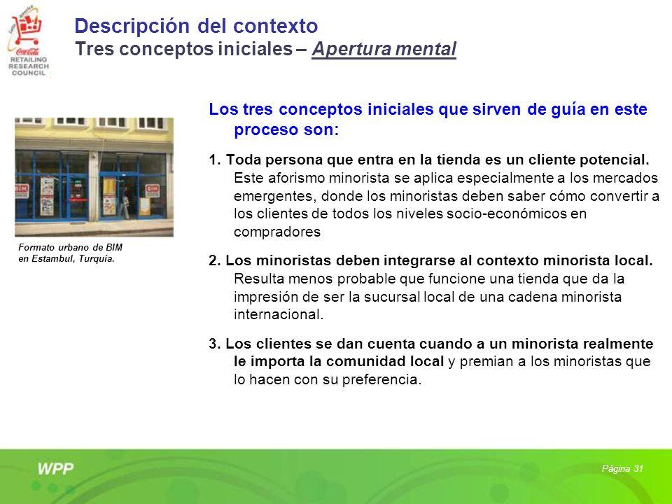 Descripción del contexto Tres conceptos iniciales – Apertura mental Los tres conceptos iniciales que sirven de guía en este proceso son: 1. Toda perso