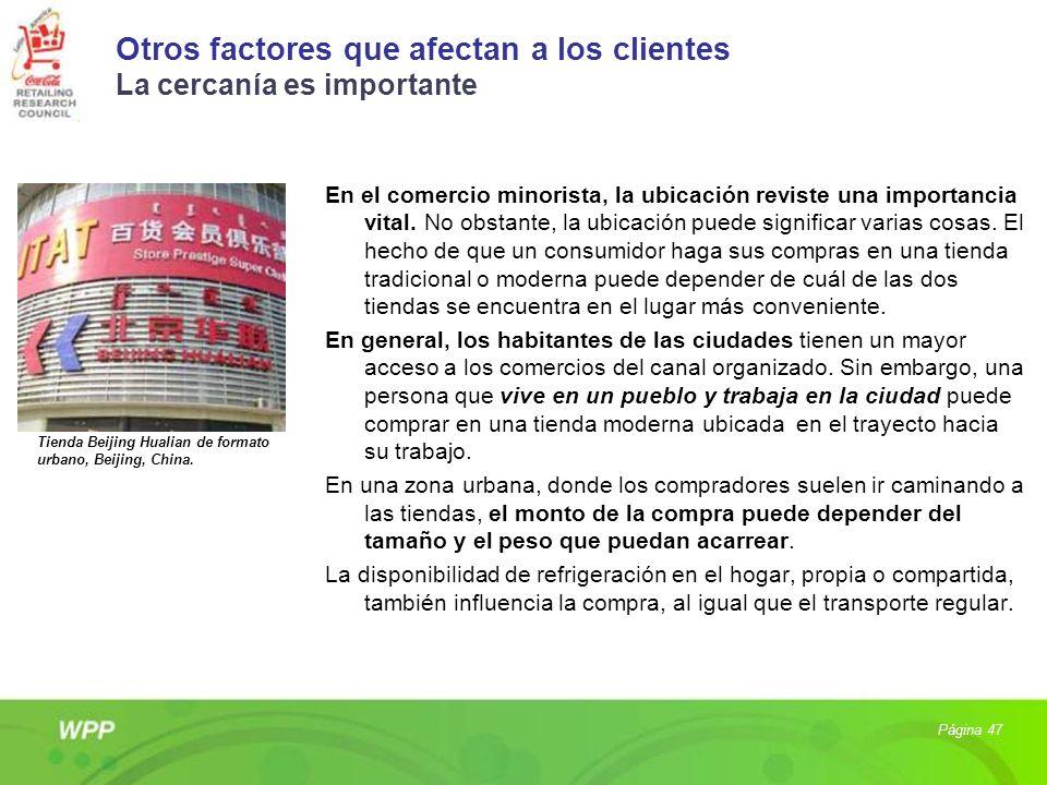 Otros factores que afectan a los clientes La cercanía es importante En el comercio minorista, la ubicación reviste una importancia vital. No obstante,