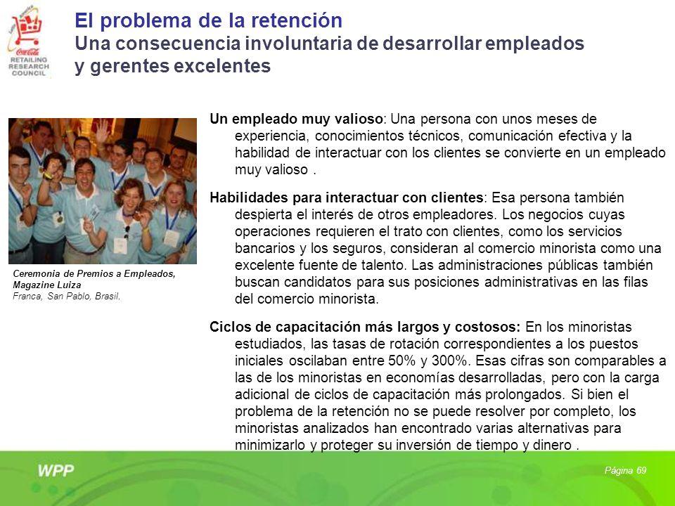 El problema de la retención Una consecuencia involuntaria de desarrollar empleados y gerentes excelentes Un empleado muy valioso: Una persona con unos