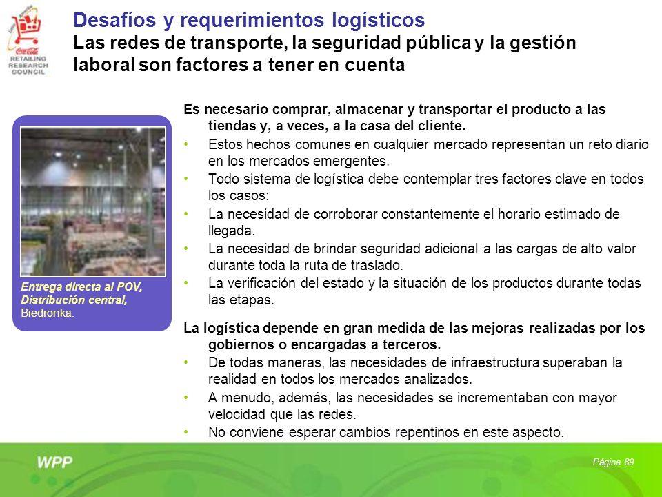 Desafíos y requerimientos logísticos Las redes de transporte, la seguridad pública y la gestión laboral son factores a tener en cuenta Es necesario co