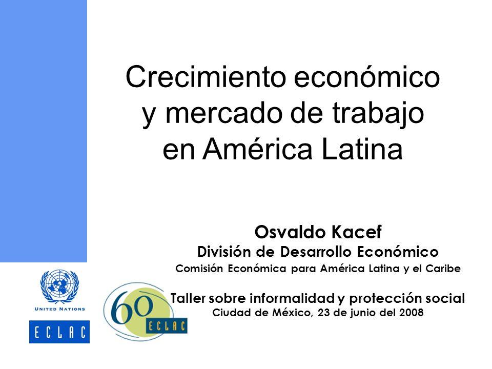Osvaldo Kacef División de Desarrollo Económico Comisión Económica para América Latina y el Caribe Taller sobre informalidad y protección social Ciudad