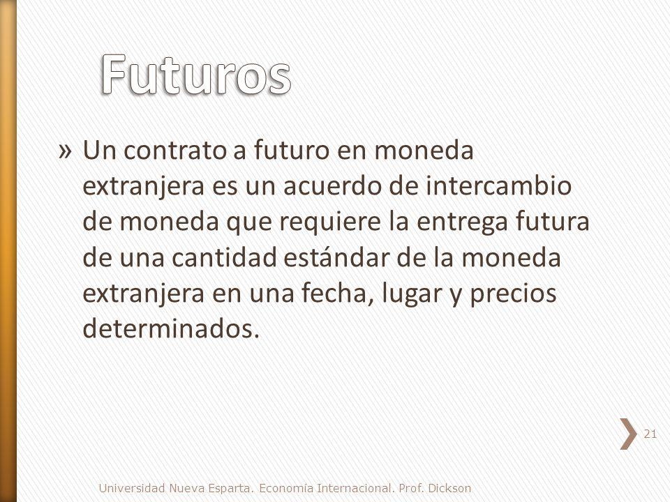 » Un contrato a futuro en moneda extranjera es un acuerdo de intercambio de moneda que requiere la entrega futura de una cantidad estándar de la moneda extranjera en una fecha, lugar y precios determinados.