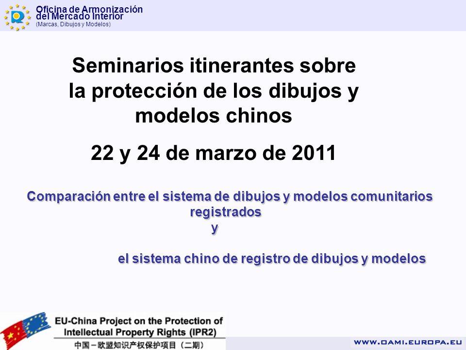 Oficina de Armonización del Mercado Interior (Marcas, Dibujos y Modelos) Seminarios itinerantes sobre la protección de los dibujos y modelos chinos 22