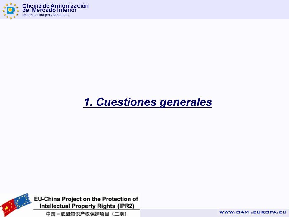 Oficina de Armonización del Mercado Interior (Marcas, Dibujos y Modelos) 1. Cuestiones generales