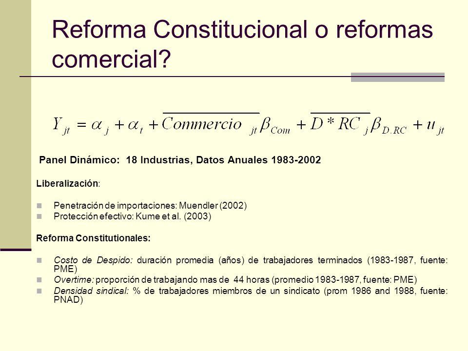 Reforma Constitucional o reformas comercial.